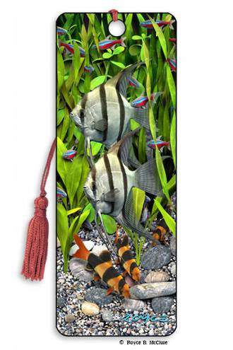 3D Bookmark - Angelfish