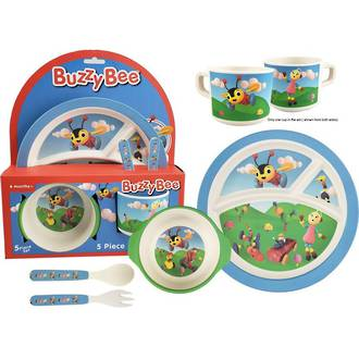 Antics Bamboo Meal Set Buzzy Bee (5pc)