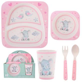 Baby Girl Elephant 5 Pce Dinner Set