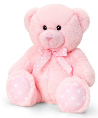 Baby Spotty Bear Pink
