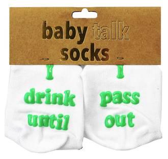 Baby Talk Socks - I Drink Until