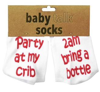 Baby Talk Socks - Party at my Crib
