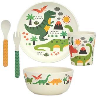 Bamboo Dinner Set Dinosaurs