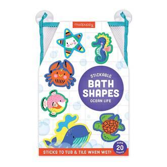 Mudpuppy Stickable Bath Shapes Ocean Life