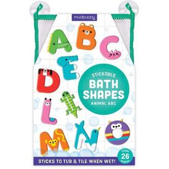 Mudpuppy Stickable Bath Shapes Animal ABC