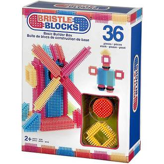 Battat Bristle Block Basic Builder Box (36pc)