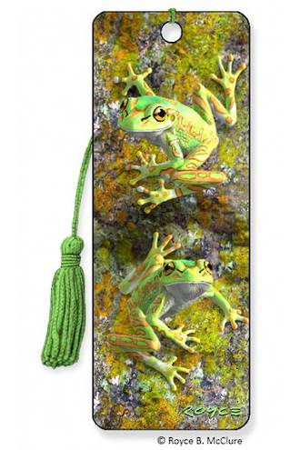 3D Bookmark - Bell Frogs