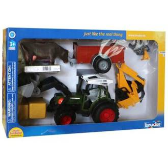 Bruder Fendt 209S Tractor Playset