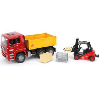 Bruder MAN TGA Truck And Forklift Playset