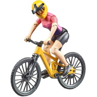 Bruder Mountain Bike with Cyclist - Female