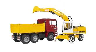 Bruder - MAN Construction Truck with Excavator