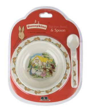Bunnykins Suction Bowl/Spoon Set