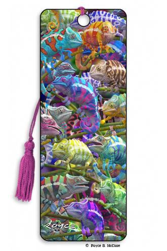 3D Bookmark - Chameleons