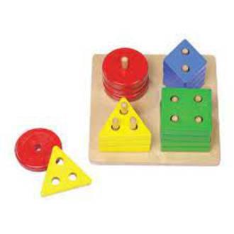ELF Wooden Counting & Shape Sorter Board 16pcs