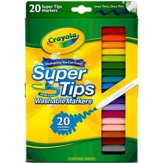 Crayola Super Tips Washable Markers (20pc)