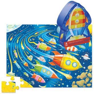 Crocodile Creek Space Race Floor Puzzle 36pc