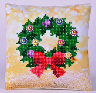 Diamond Dotz Wreath Mini Pillow