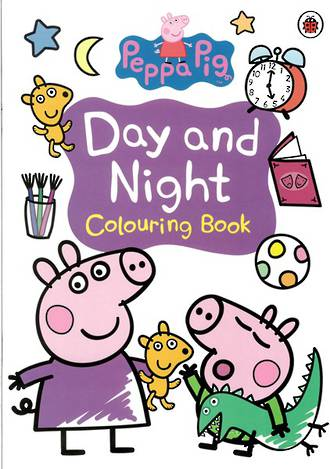 Peppa Pig Day and Night Colouring Book