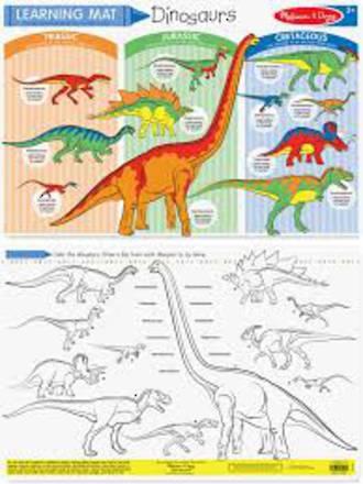 Melissa & Doug Dinosaurs Write-a-Mat