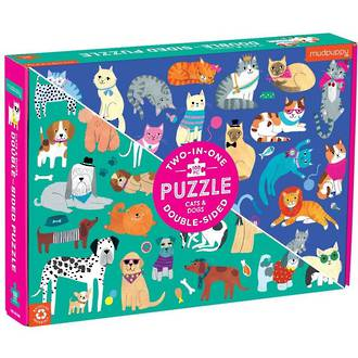 Double-Sided Puzzle Cats And Dogs