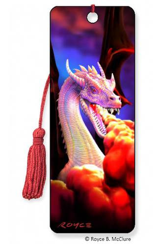 3D Bookmark - Dragon Fire