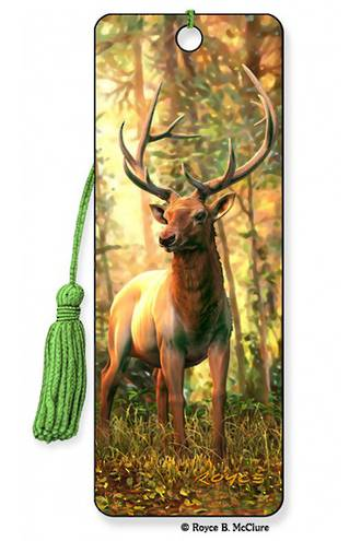 3D Bookmark - Elk