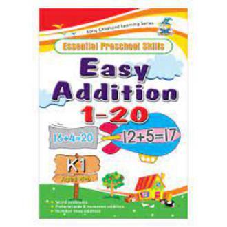Essential Preschool Skills Easy Addition 1-20