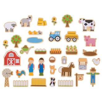 Wooden Magnets Farm