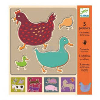 Djeco Farm Animal Stencils