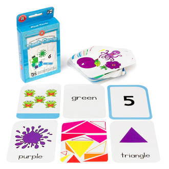 Flash Cards colour shape early numbers pack 62