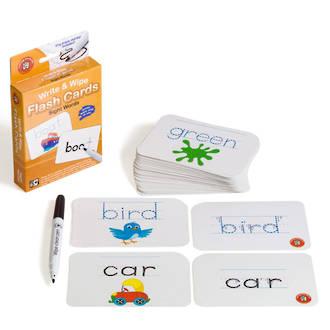 Write & Wipe Flashcards Sight Words W/Marker