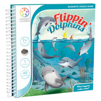 Smart Games Magnetic Travel Game Flippin Dolphins