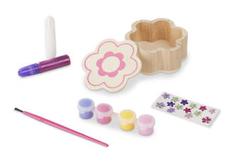 Melissa & Doug Decorate Your Own Wooden Flower Box