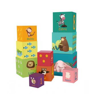 Forest Animal Stacking Cubes