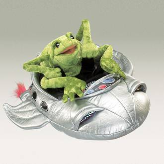 Frog in a Spaceship Puppet - Folkmanis