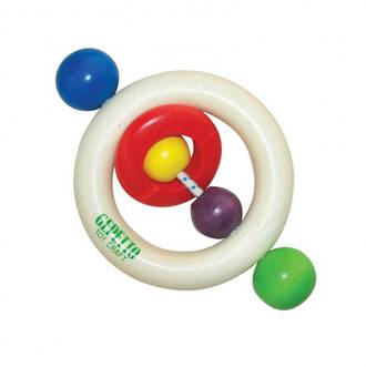 Gepetto Teething Ring with Bead Handles