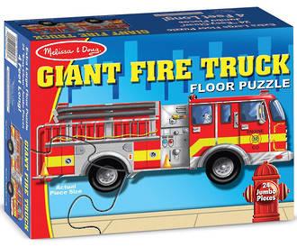 Melissa & Doug Floor Puzzle Giant Fire Truck
