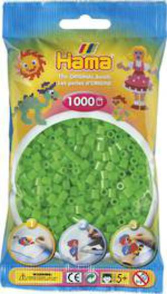 Hama Beads 1000  Fluorescent Green H207-42