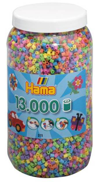Hama  Beads 13000 Pastel H211-50