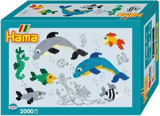 Hama Beads Gift Box Dolphins
