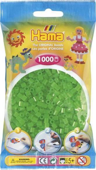 Hama Beads 1000  Neon Green H207-37