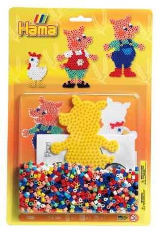 Hama Blister Kit Pigs, 1100 Beads H4014
