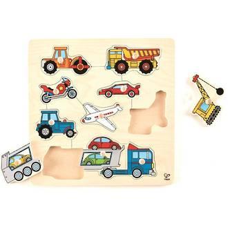 Hape Vehicles Knob Puzzle