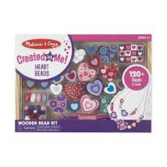 Melissa & Doug Hearts Wooden Bead Set