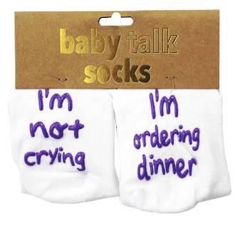 Baby Talk Socks - I'm Not Crying