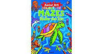 Junior Art Colour-In Mazes Under the Sea