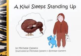 A Kiwi Sleeps Standing Up