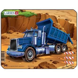 Larsen Puzzle Construction Vehicles Mini Dumptruck (7pc)