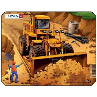 Larsen Puzzle Construction Vehicles Mini Front Loader (7pc)