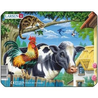 Larsen Puzzle Farm Animals Cow 7pc